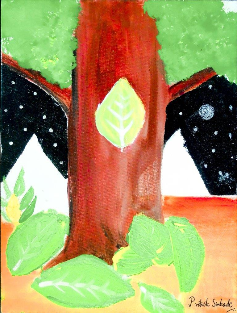 green black painting