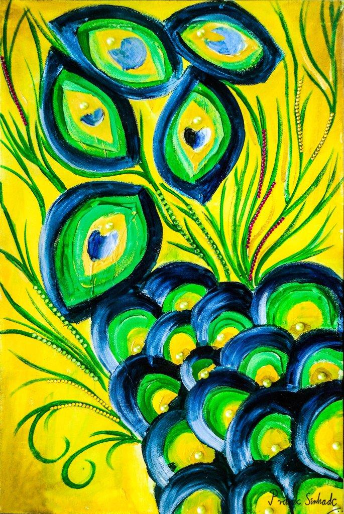 yellow and green painting