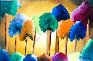 pritvik's tree painting
